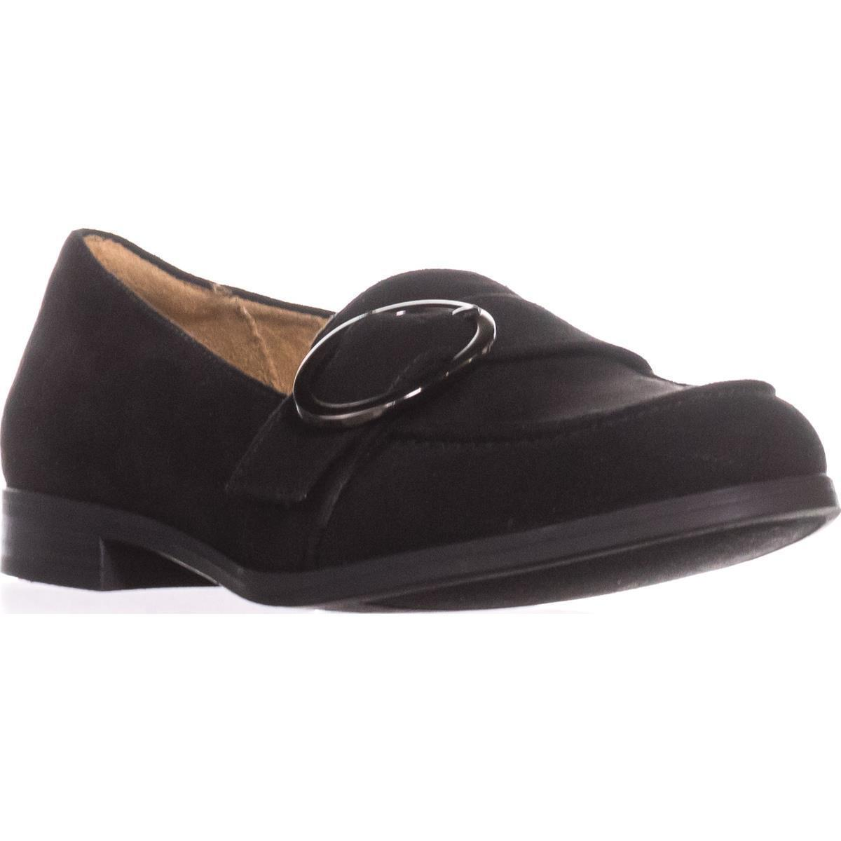 Womens Naturalizer Mina Flat Comfort Loafers, Black Fabric by Naturalizer