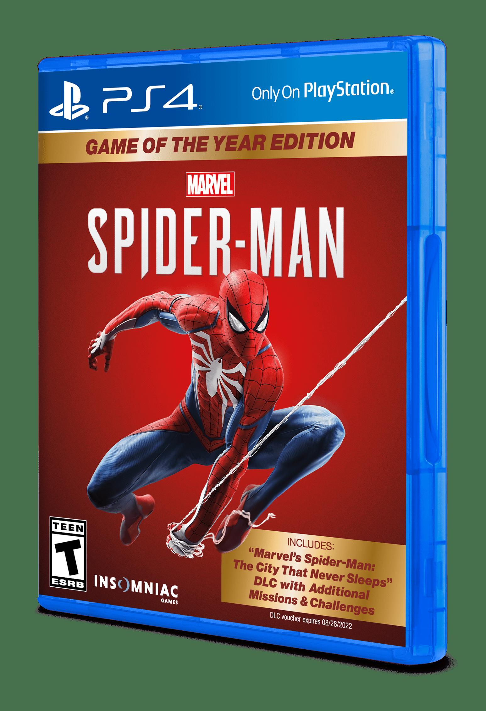 Marvel S Spider Man Game Of The Year Edition Sony Playstation 4 711719529958 Walmart Com Walmart Com