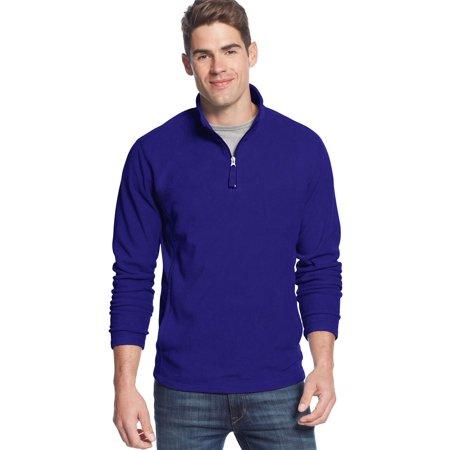 CLUB ROOM Quarter Zip Fleece Mockneck Sweatshirt Cargo Blue XXL 2XL