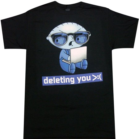 Family Guy Stewie Deleting You Adult T-shirt