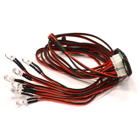 Integy RC Toy Model Hop-ups C24674 5mm LED (4 White+2 Red+2 Orange) Light Kit w/ Multi Flash Mode - Flash Outfit