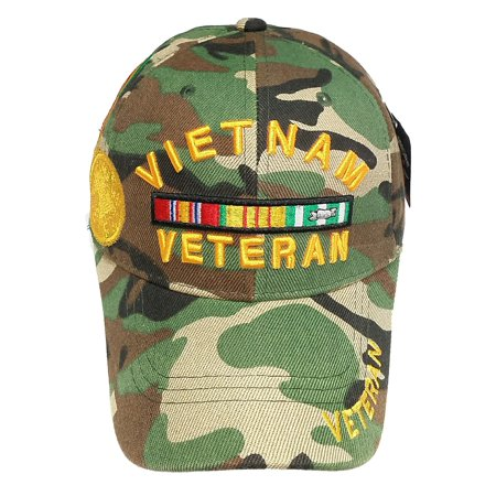 f2f5329df65 U.S. Military Hat U.S. ARMY VIETNAM VETERAN Green Camo Hat Army Gear Cap Hat  - Walmart.com