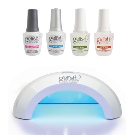 Gelish Mini Pro LED Curing Light Lamp and Fantastic Four Essentials Collection ()