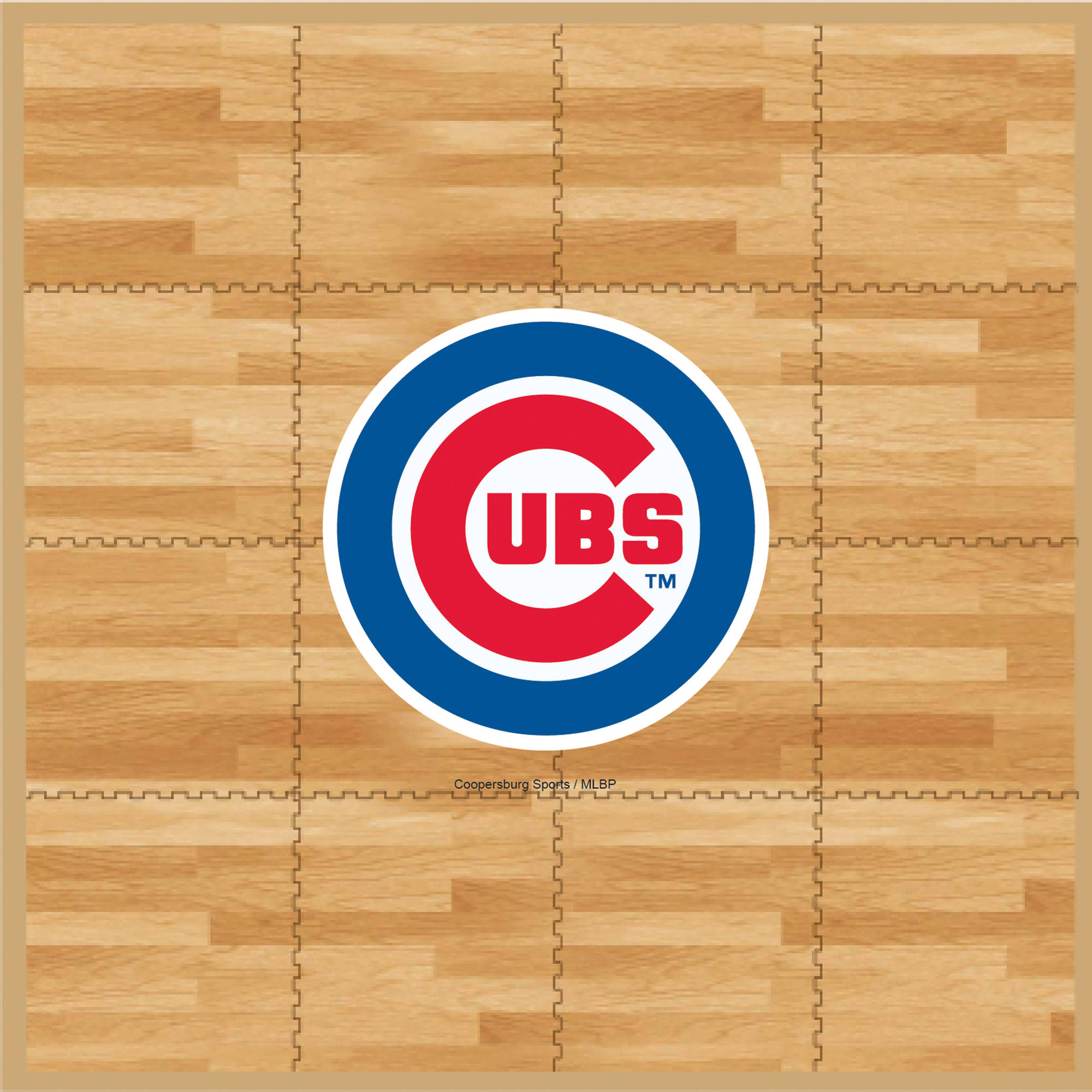 MLB Chicago Cubs Portable Foam Puzzle Tailgate Floor Mat by