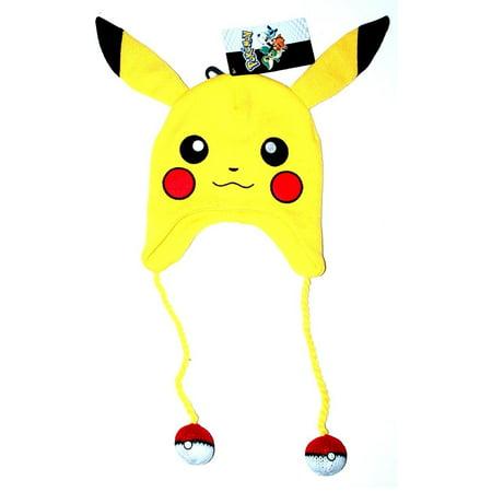 b1bcbf046f4 Nintendo Pokemon - Pikachu Big Face Laplander Beanie Size ONE SIZE -  Walmart.com