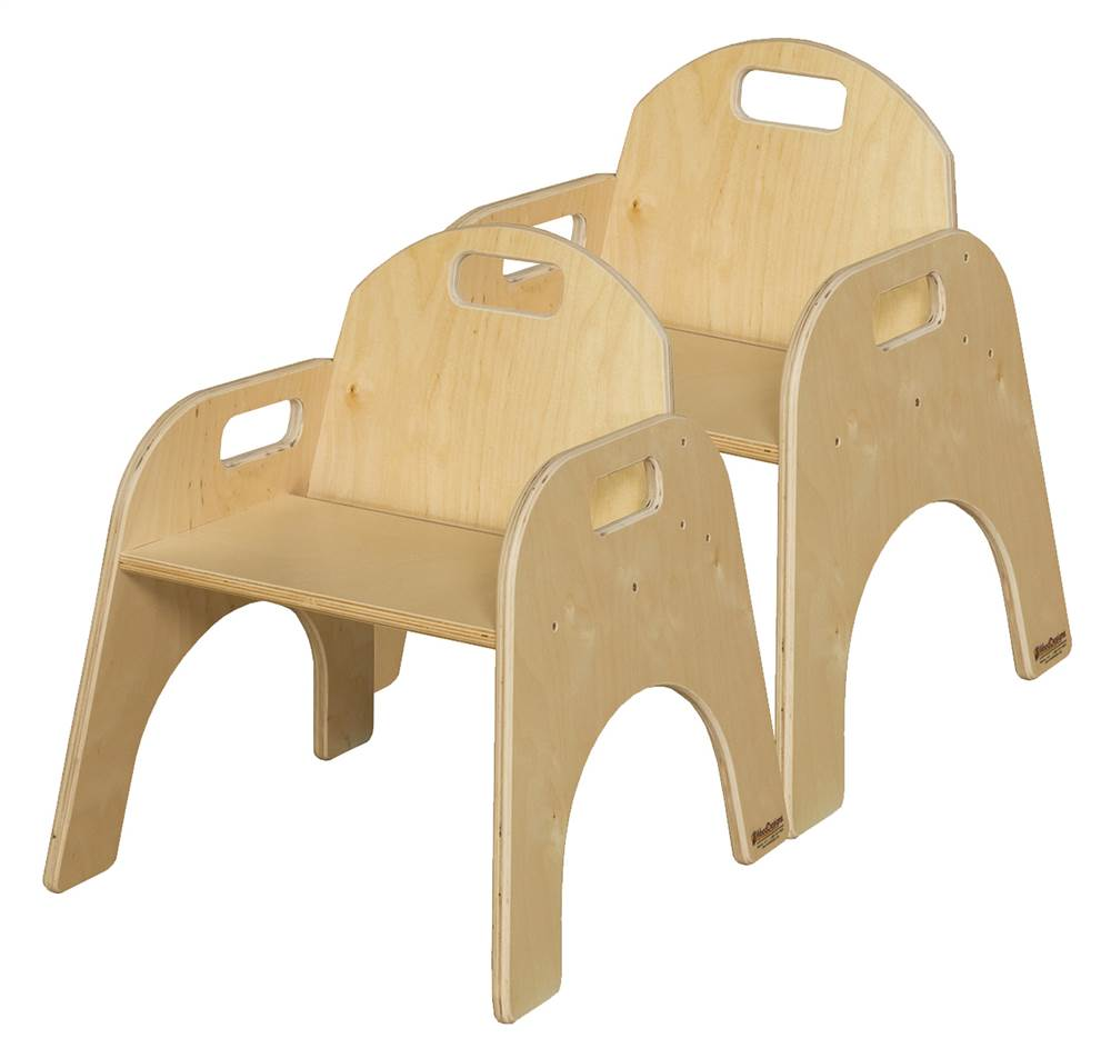 17.5 in. Woodie Stackable Chair - Set of 2