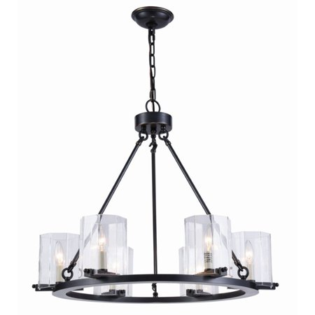 Renaissance 6 Light Oval Chandelier - Elegant Lighting Monterey 6 Light Chandelier in Bronze
