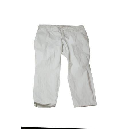 Jessica Simpson Plus Size White Skinny Capri Jeans 22W