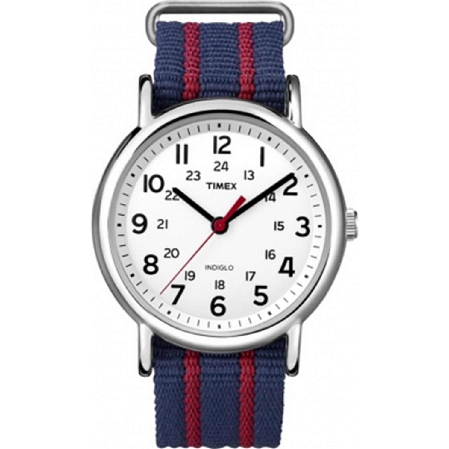 Timex Men's Weekender T2N747 White Nylon Quartz Watch