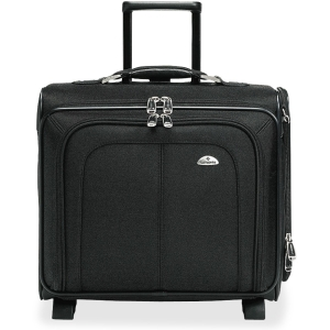 Samsonite® - Side Loader Office Rolling Laptop Case, Nylon, 17 1/2 X 7 1/2 X 15, Black
