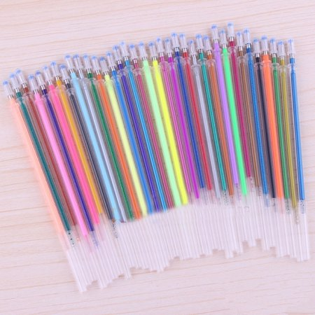 Gel pen refills Replace  Refills  Multi color Refills Candy Colors Refills Neon Glitter Pastel Art Pen Replacement Students Stationery Supplies Neon Gel Pen
