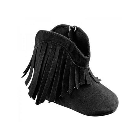 VICOODA Newborn Baby Toddler Boy Girl Winter Warm Fringe Tassel Boots Sole Anti-slip Winter Shoes 0-18m