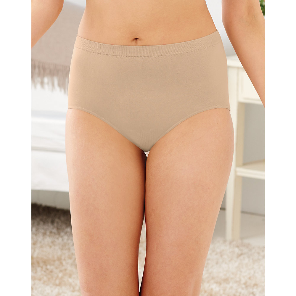 Bali Womens Comfort Revolution Seamless Brief Panty 7-Jun Nude