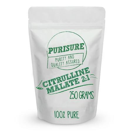 Citrulline Malate Powder 250g (84 Servings) - Bulk Pre Workout Sports Nutrition - L-Citrulline Complex