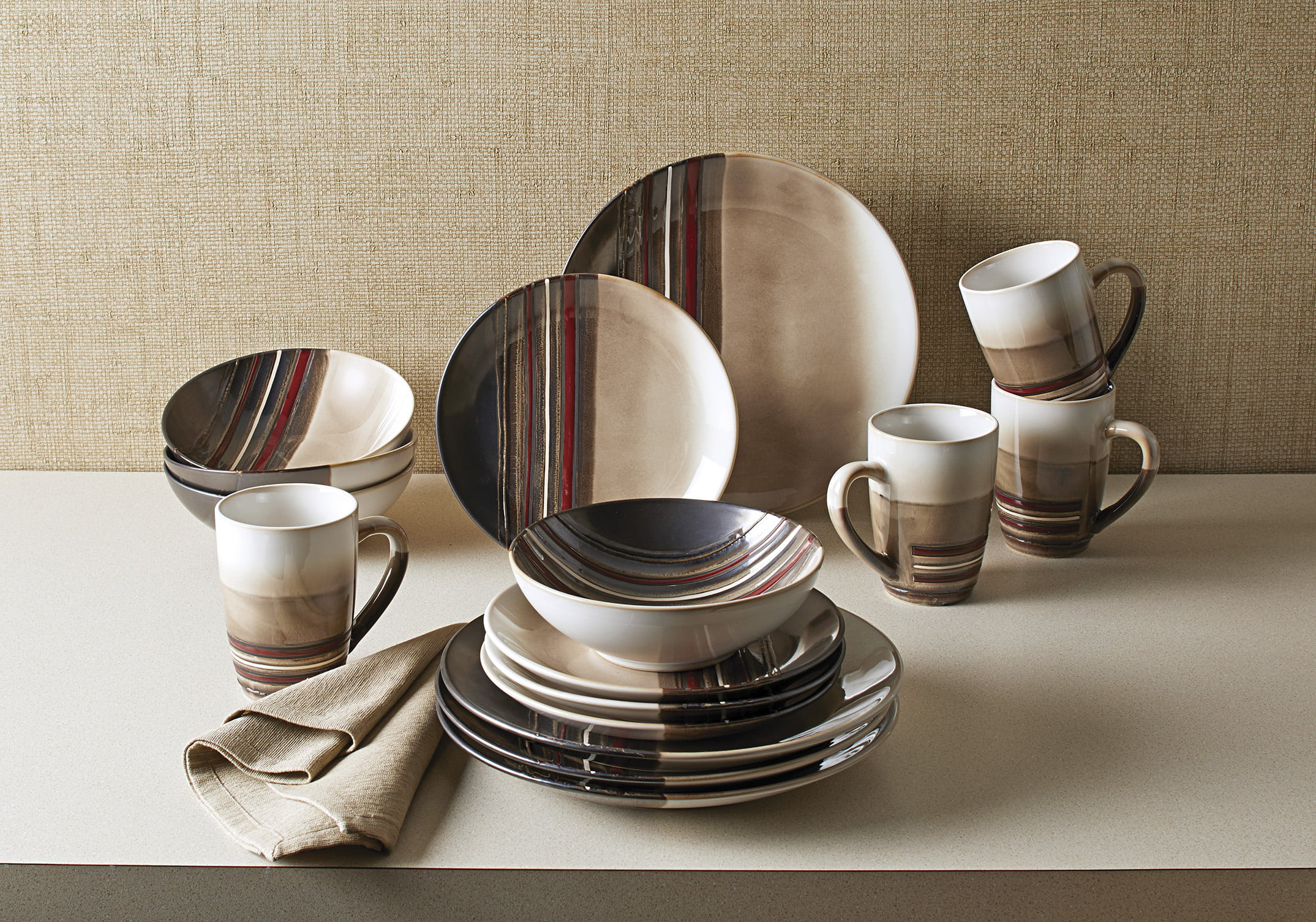 Better Homes and Gardens 16-Piece Rockport Dinnerware Set - Walmart.com