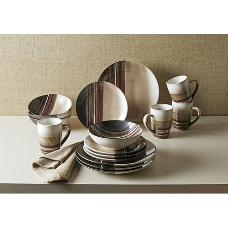 Better Homes & Gardens Rockport Reactive Dinnerware, 16 Piece (Better Homes Gardens Dinnerware)
