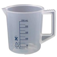 LAB SAFETY SUPPLY 23X902 Beaker with Handle,250mL,PK6