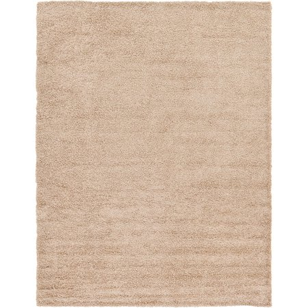Unique Loom Basic Shag Taupe 10' x 13' Area Rug