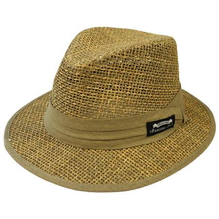 Panama Jack Men's Matte Seagrass Safari Hat