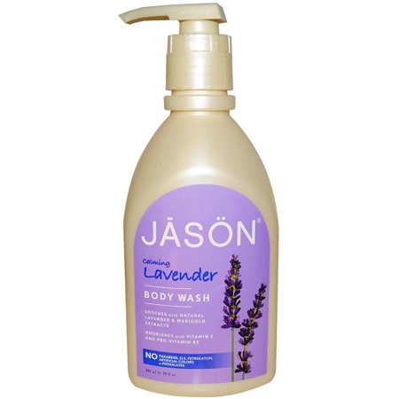 Jason Pure Natural Body Wash, Calming Lavender 30 oz (Pack of 2) - Jason Natural Products Fragrance