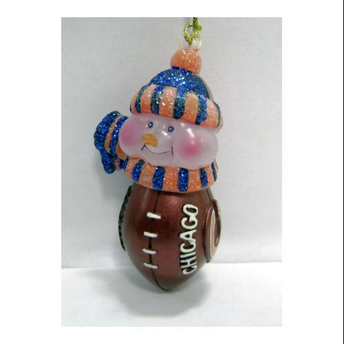 "3.5"" Chicago Bears NFL Lighted Touchdown Snowman Christmas Ornament #2404"