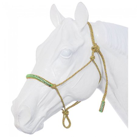 Tough 1 Poly Rope Tied Halter With Crystal Accents Neon Rainbow
