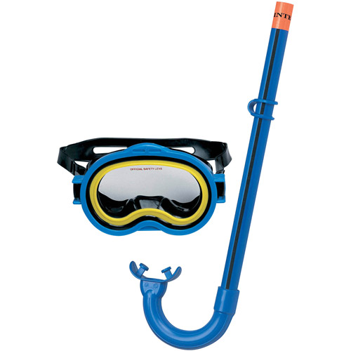 Intex Blue & Yellow Adventurer Snorkel & Mask Swim Set