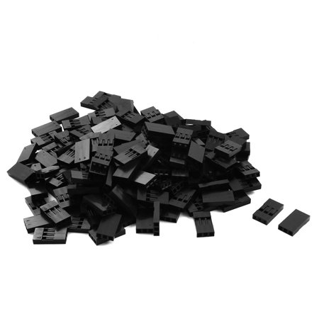 150 x Black Plastic 3P Jumper Wire Housing Female Connector 2.54mm Pitch