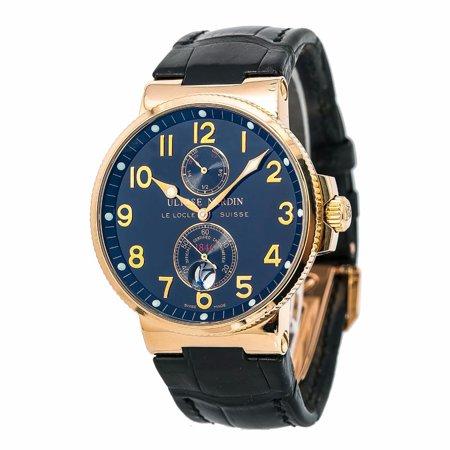 Pre-Owned Ulysse Nardin Marine 266-66 Gold  Watch (Certified Authentic & Warranty)