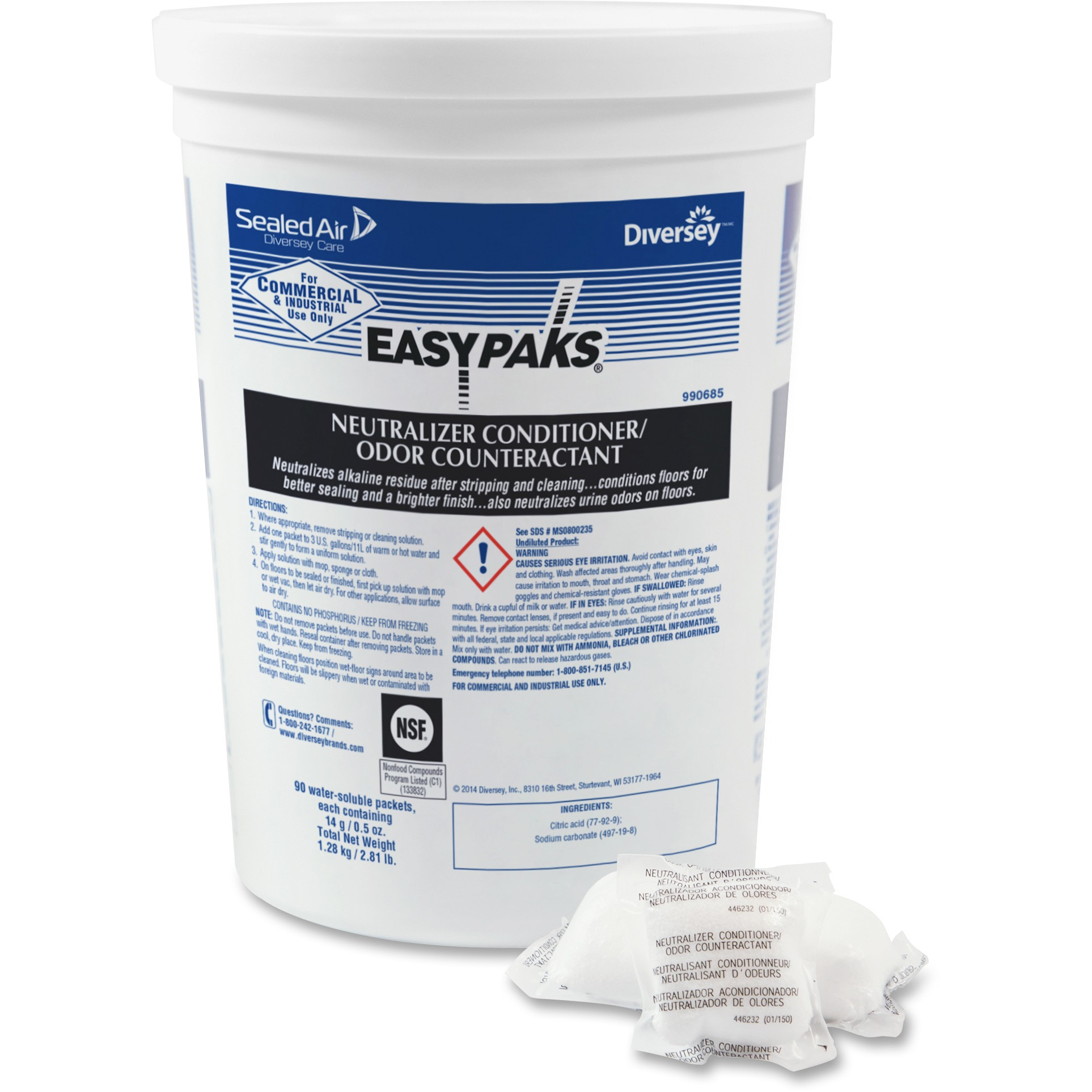 Diversey Easy Paks Neutral Odor Counteractant  - DVO990685CT