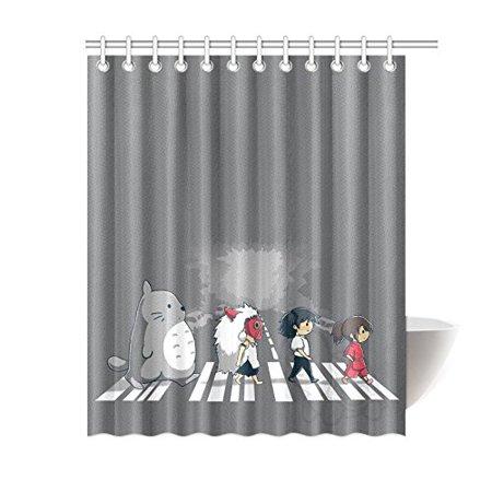Ganma Miss Ghibli Totoro Shower Curtain Polyester Fabric Bathroom 66x72 Inches