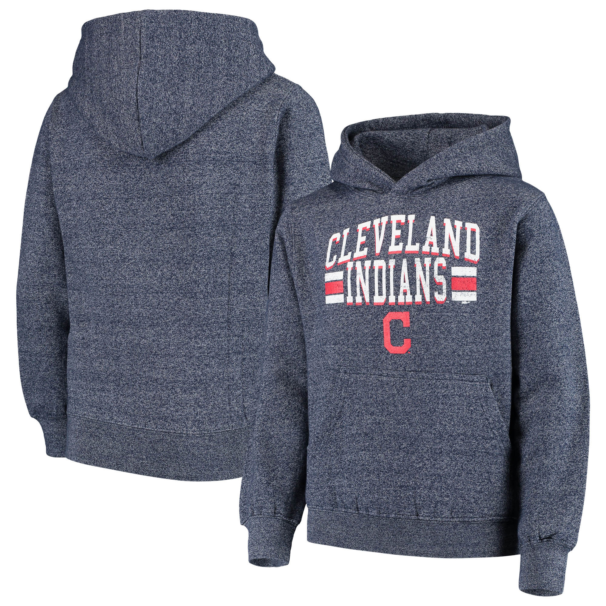 Cleveland Indians Stitches Youth Sport Hoodie - Heathered Navy