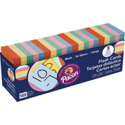 """Pacon Blank Flash Cards and Dispenser Box, 5 Assorted Colors, 3"""" x 2"""", 1000ct"""
