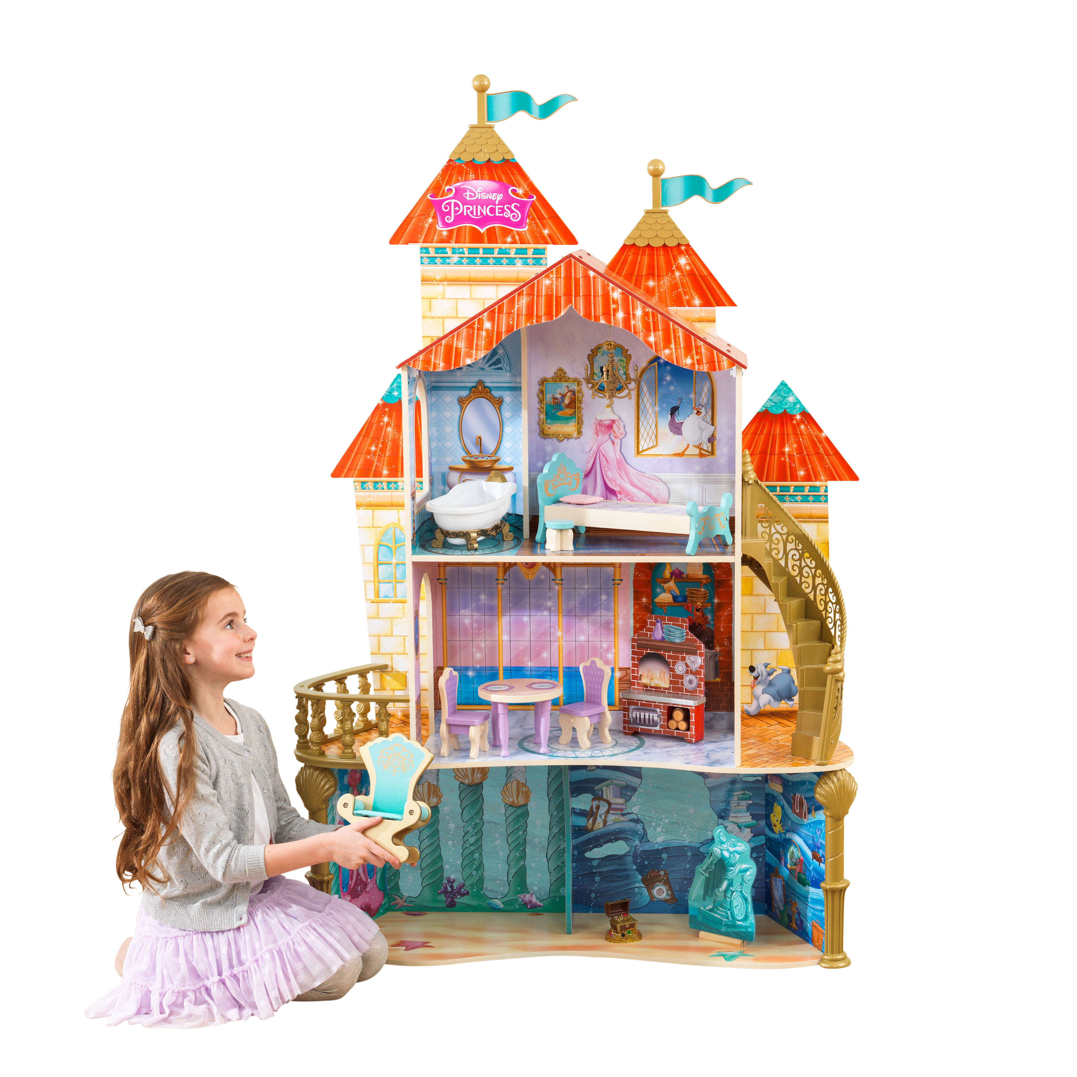 KidKraft Disney Princess Ariel Land to Sea Castle Dollhouse by KidKraft