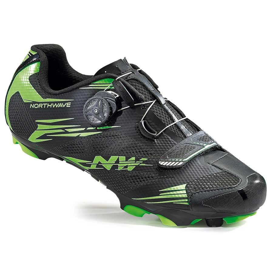 Northwave, Scorpius 2 Plus, MTB shoes, Black/Green Fluo, 45