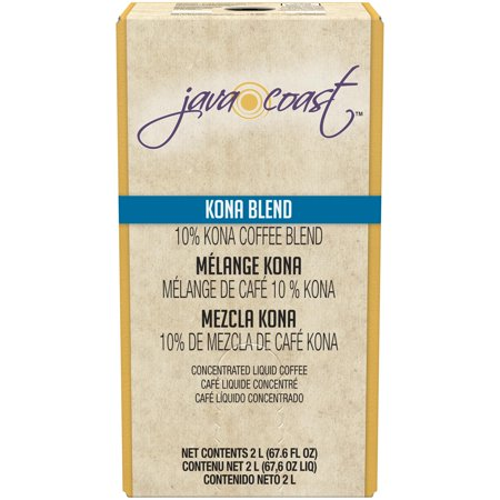 Java Giant Coffee - Java Coast Kona Blend Liquid Coffee Concentrate, 1 box (2 L)