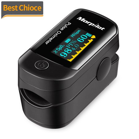 [Lowest Price Ever!]Fingertip Pulse Oximeter, OLED Portable Oximetry Blood Oxygen Saturation Monitor SpO2 Finger Pulse Oximeter Readings with Carrying Case Lanyard Silicon Case and Battery