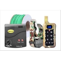 Remote Dog Training Shock Collar & Underground/in-Ground Electronic Dog Containment Fence System Combo for Medium and Large Dog
