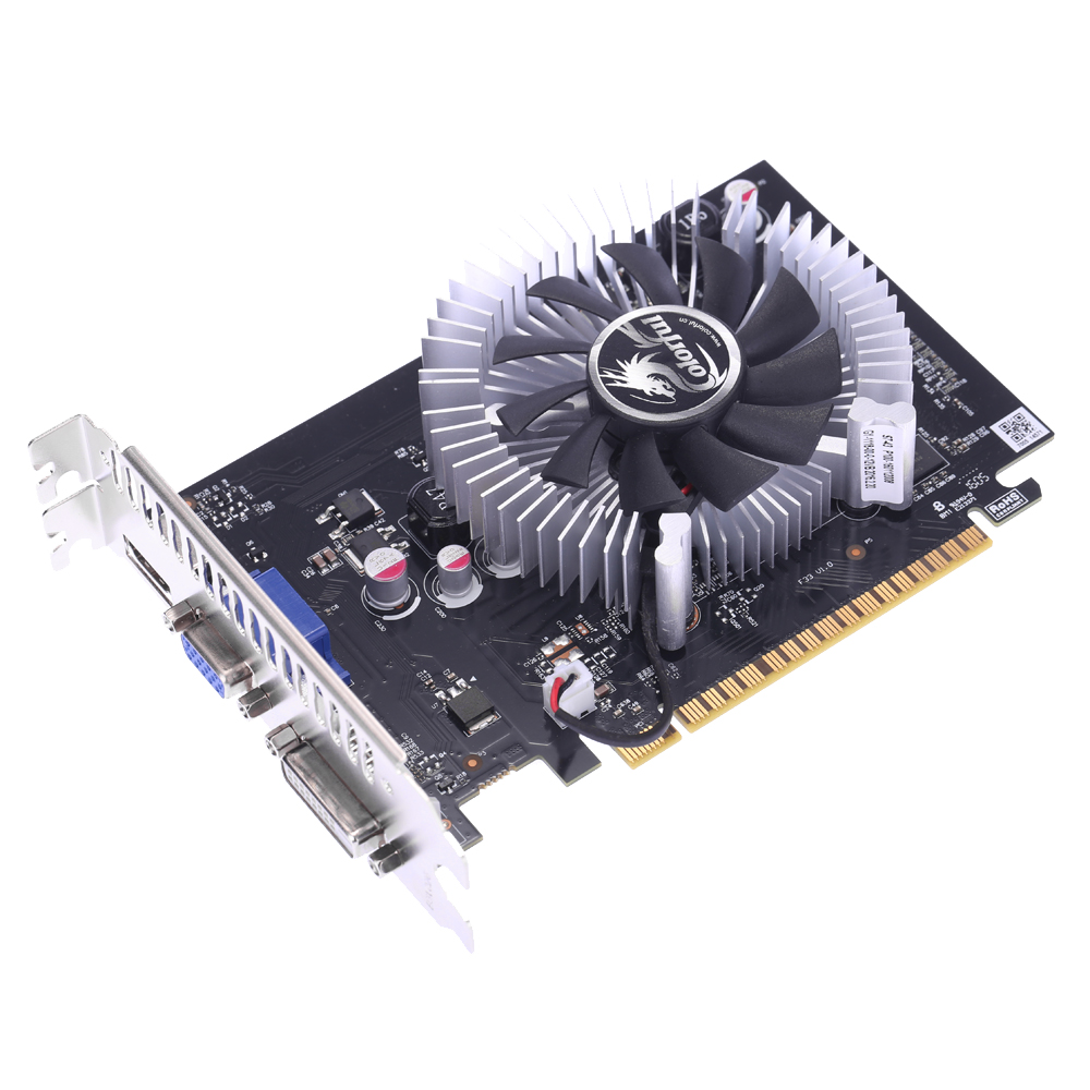 Colorful 2048MB NVIDIA GeForce GT 730 GPU 2GB 64bit DVI+VGA+HDMI Port GDDR5 PCI-E X16 2.0 Video Graphics Card with Cooling Fan