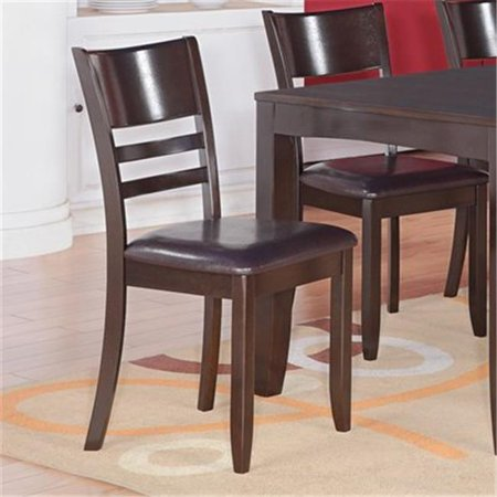 Wooden imports furniture ly lc cap lynfield dining chair for Wood dining chairs with leather seats