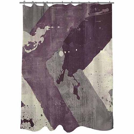 Thumbprintz Splatter No 1 Purple Shower Curtain