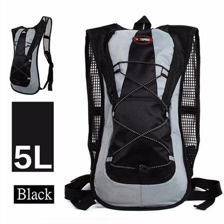 5L Running Hydration Backpack Rucksack with 2L Straw Water Bladder Bag For Cycling Hiking Traveling -