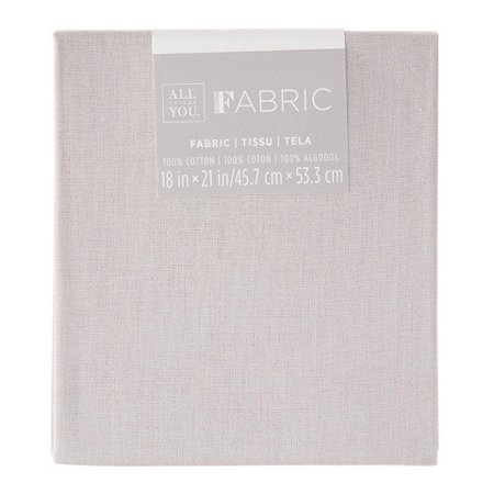 Solid Quilting Fabric Fat Quarters: Gray, 18 x 21 inches 18' Solid Poly Cotton