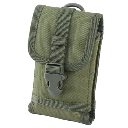 Mobile Phone Release Button Design Package Pocket Cellphone Bag Army Green