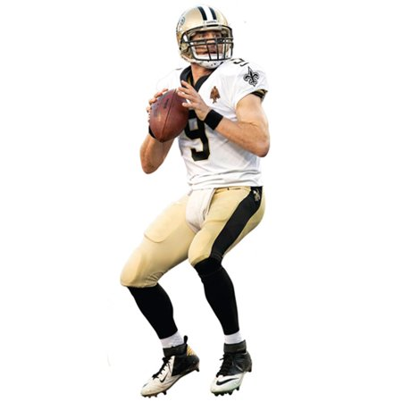 new arrival 1eeb6 43327 Drew Brees New Orleans Saints Fathead Life Size Removable Wall Decal - No  Size