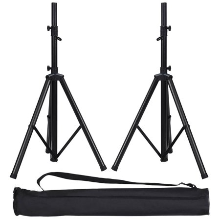 Gymax Pair Height Adjustable Tripod DJ PA Speaker Stands w/Carry (Best Knox Speaker Stands)