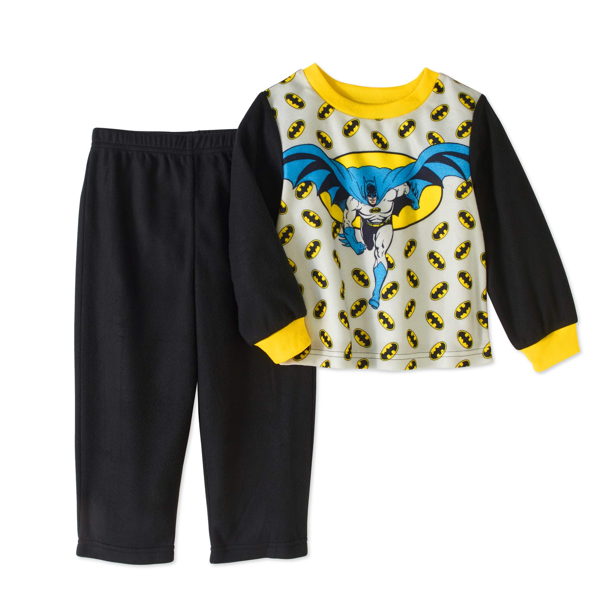 Batman Baby Toddler Boy Poly Pajama, 2pc Set by Generic