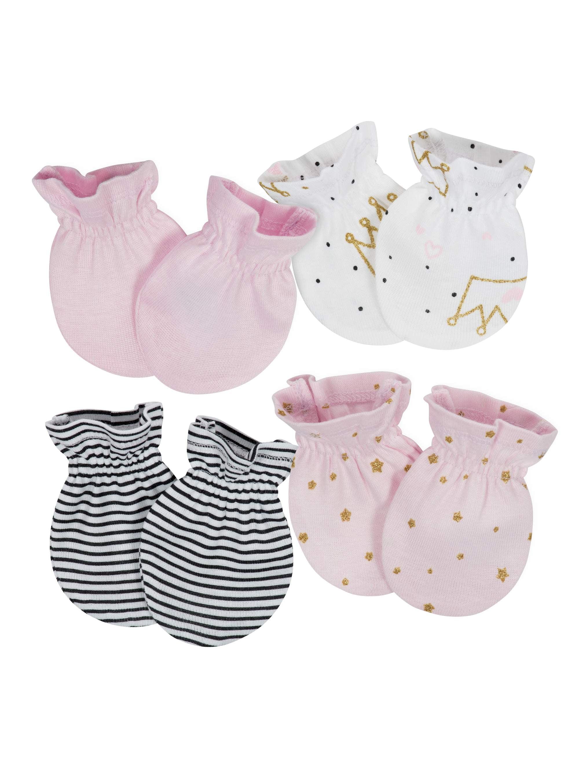 Assorted Mitten Set, 4pk (Baby Girl)