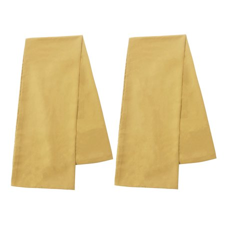 "Set of 2 Body Pillow Cover Long Soft Pillow Case for Body Pillows Gold 20""x48"" - image 5 de 8"