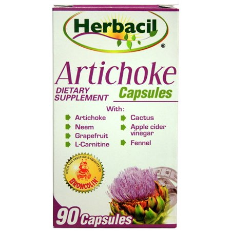 Midway Importación Herbacil Cápsulas de alcachofa 90 ea